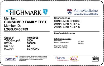 LGH Consumer Plan Card