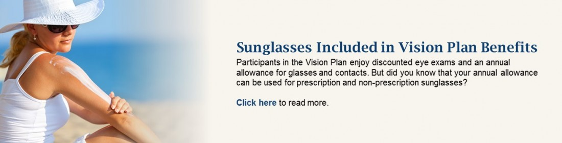 Sunglasses Included in Vision Plan Benefits